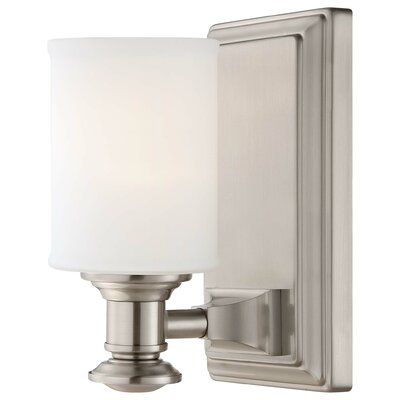 Delmont 1-Light Bath Sconce Finish: Brushed Nickel