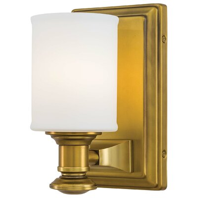 Delmont 1-Light Bath Sconce Finish: Liberty Gold