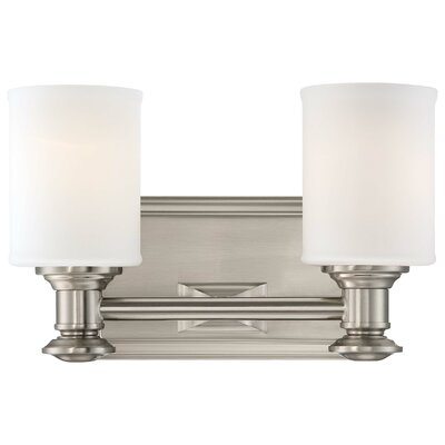 Delmont 2-Light Vanity Light Finish: Brushed Nickel