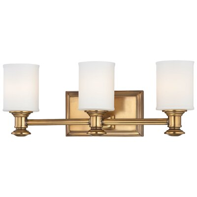 Delmont 3-Light Vanity Light Finish : Liberty Gold