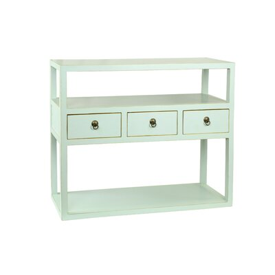 Eastwood Console Table Color: Aqua