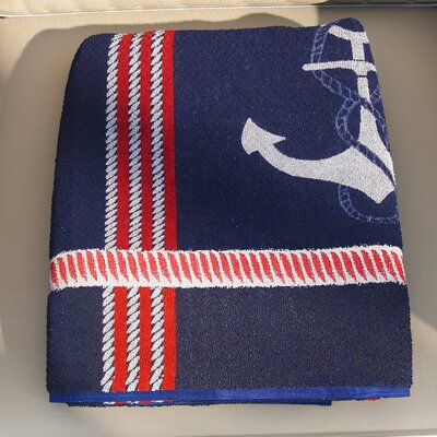 Hackney Anchor Jacquard Beach Towel