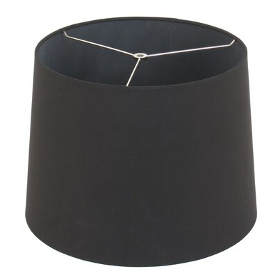 15 Drum Lamp Shade Color: Dark Charcoal