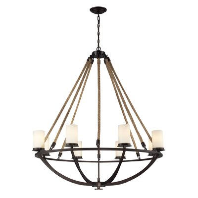 Abercrombie 8-Light Shaded Chandelier