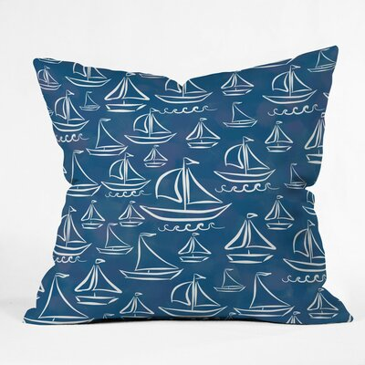 Hillmont Sail Away Outdoor Throw Pillow Size: 16 H x 16 W x 4 D