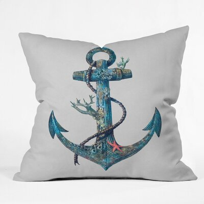 Edwards Anchor Outdoor Throw Pillow Size: 16 H x 16 W x 4 D
