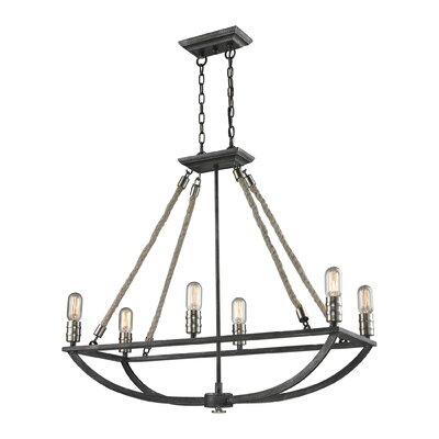 Ballantine 6-Light Metal Candle-Style Chandelier