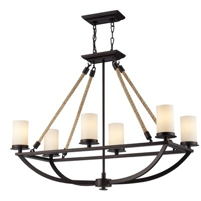 Ballantine 6-Light Chain Shaded Chandelier