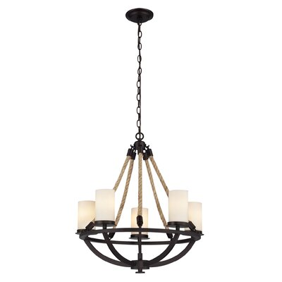 Abercrombie 5-Light Shaded Chandelier