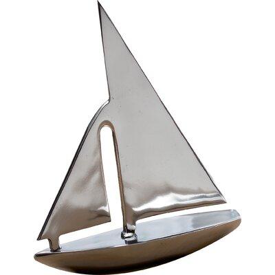 Tidewater Hand-Cast Aluminum Sail Boat Sculpture