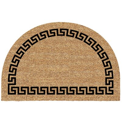 Blenheim Half Round Greek Key Doormat