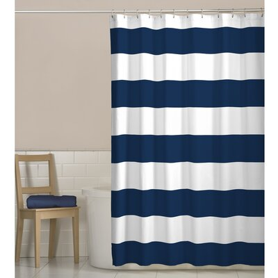 Daggett Fabric Shower Curtain Color: Navy