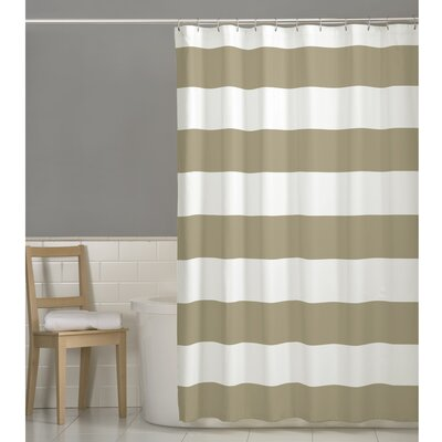 Berwyn Fabric Shower Curtain Color: Linen