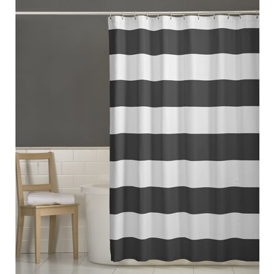 Berwyn Fabric Shower Curtain Color: Gray