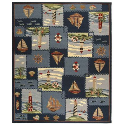 Eldridge Cape Cod Novelty Rug Rug Size: 89 x 119