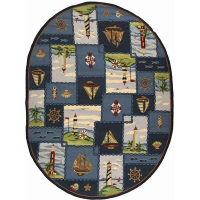 Eldridge Cape Cod Novelty Rug Rug Size: Oval 76 x 96