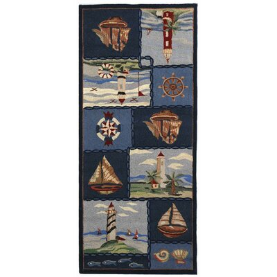 Eldridge Cape Cod Novelty Rug Rug Size: Rectangle 89 x 119