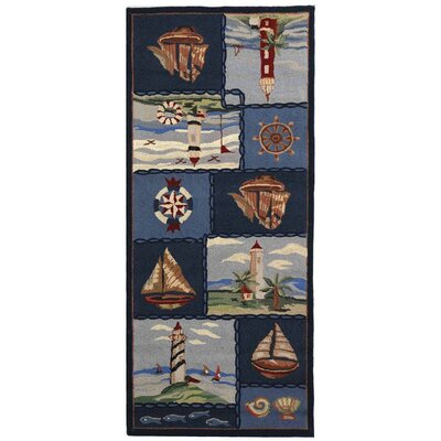 Eldridge Cape Cod Novelty Rug Rug Size: Runner 26 x 8