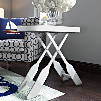 Wawaset End Table with Oar Shaped Legs
