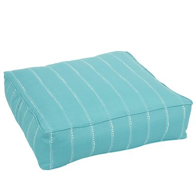 Berwyck Corded Edge Indoor/Outdoor Floor Pillow Color: Aqua