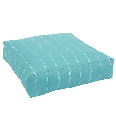 Berwyck Knifed Edge Indoor/Outdoor Floor Pillow Color: Aqua