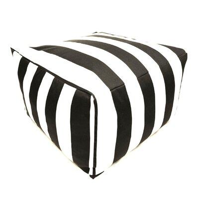 Bean Bag Ottoman Upholstery: Black