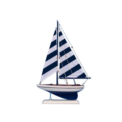 Striped Pacific Sailer Model Yacht Color: Blue