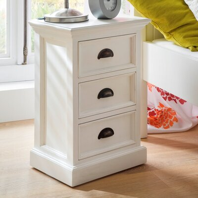 Amityville 3 Drawer Nightstand