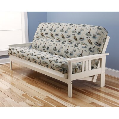 Barnes Boating Futon and Mattress Finish: Antique White