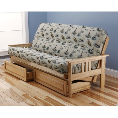 Barnes Boating Storage Drawers Futon and Mattress Finish: Natural