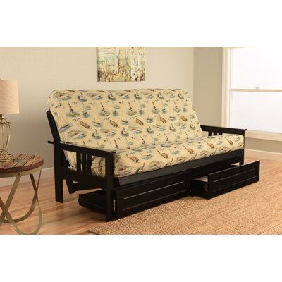 Barnes Boating Storage Drawers Futon and Mattress Finish: Antique White