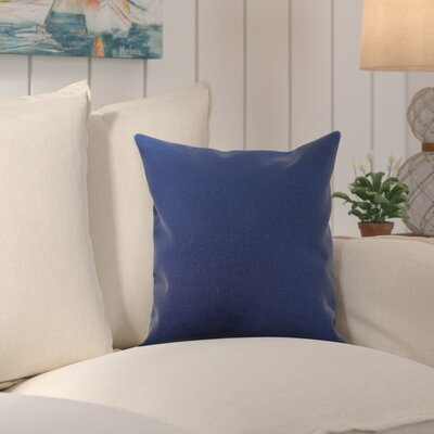 Edisto Canvas Sunbrella Throw Pillow Color: Navy Blue