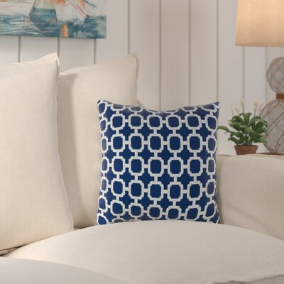 Truxton Outdoor Throw Pillow Fabric: Hockley Navy