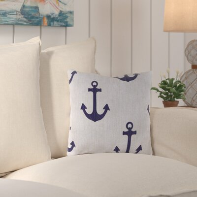 Truxton Outdoor Throw Pillow Fabric: Ahoy Blue Marine