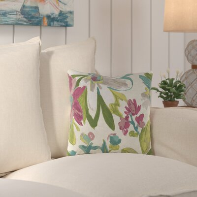 Truxton Outdoor Throw Pillow Fabric: Elberta White