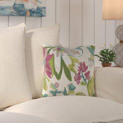Truxton Outdoor Throw Pillow Fabric: Elberta White