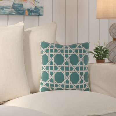 Truxton Outdoor Throw Pillow Fabric: Kane Bluestone