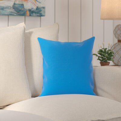 Edisto Canvas Sunbrella Throw Pillow Color: Capri Blue