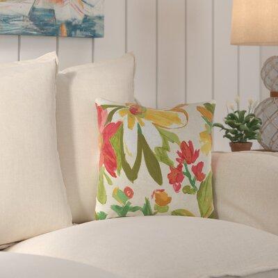 Truxton Outdoor Throw Pillow Fabric: Elberta Sunbright