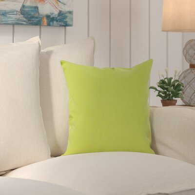 Edisto Canvas Sunbrella Throw Pillow Color: Ginkgo Greeen