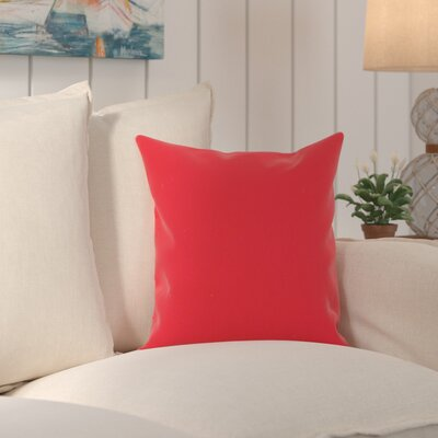 Edisto Canvas Sunbrella Throw Pillow Color: Jockey Red