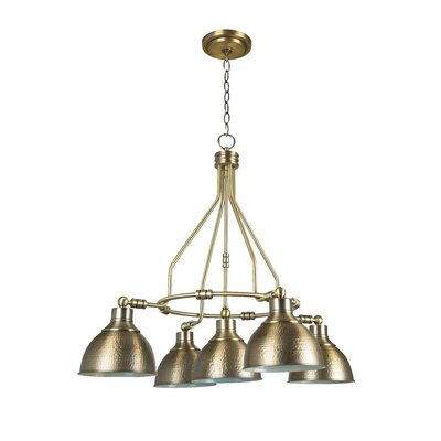 Edenvale 5-Light Shaded Chandelier Finish: Legacy Brass