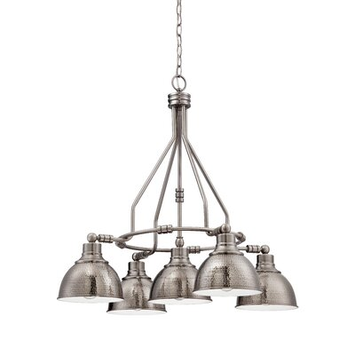 Bridgepointe 5-Light Shaded Chandelier Finish: Antique Nickel