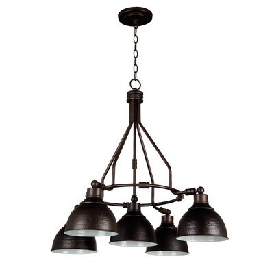 Edenvale 5-Light Shaded Chandelier Finish: Antique Bronze
