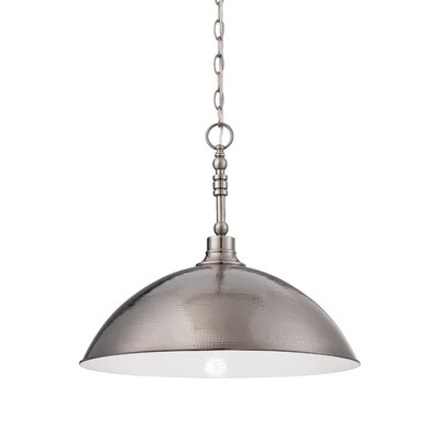 Bridgepointe 1-Light Mini Pendant Finish: Antique Nickel