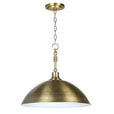 Bridgepointe 1-Light Mini Pendant Color: Legacy Brass