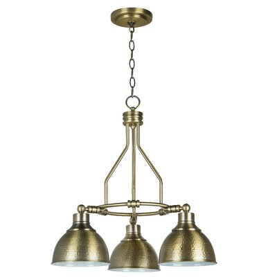 Bridgepointe 3-Light Shaded Chandelier Color: Legacy Brass