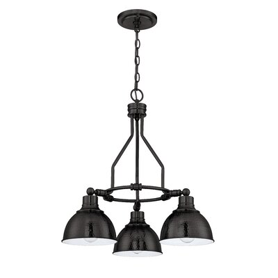 Bridgepointe 3-Light Shaded Chandelier Finish: Antique Bronze