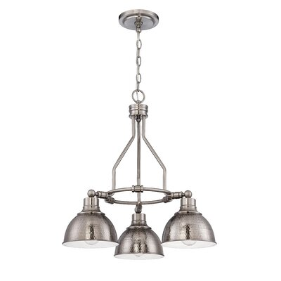 Bridgepointe 3-Light Shaded Chandelier Color: Antique Nickel
