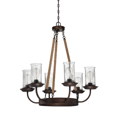 Sanderling 6-Light Shaded Chandelier